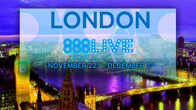 В ноябре пройдет новый фестиваль 888 Poker в Лондоне