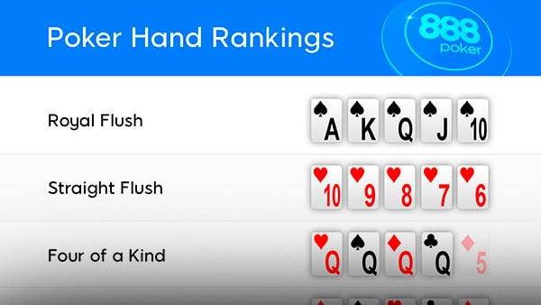 Комбинации в 7 карточном стаде