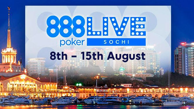 Стало известно расписание внеплановой живой серии 888poker в Сочи