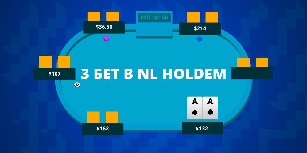 3-bet (трибет) в NL Holdem