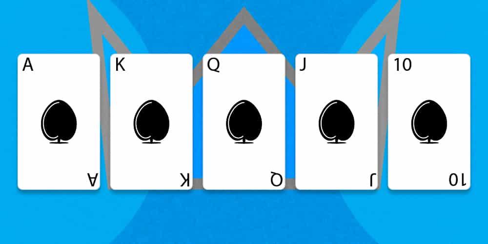 Лучшая комбинация в покере - флеш рояль.