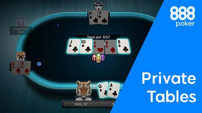 Приватные кэш-столы и турниры по приглашению на 888poker