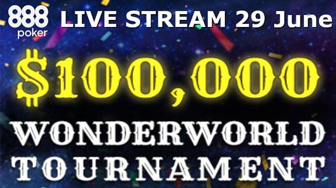 29 июня смотрите прямой эфир грандиозного турнира WonderWorld на 888poker