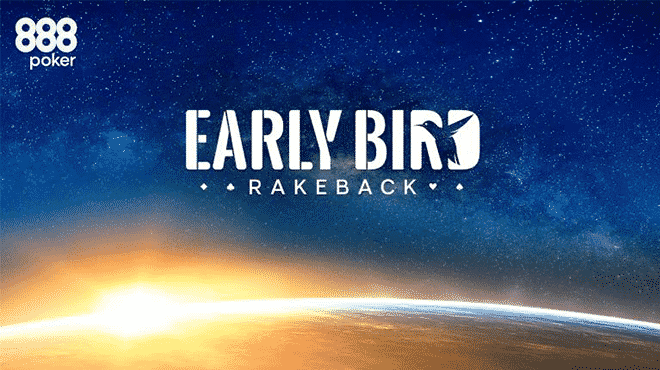 Польза акции «Early Bird Rakeback» в турнирах PKO на 888poker
