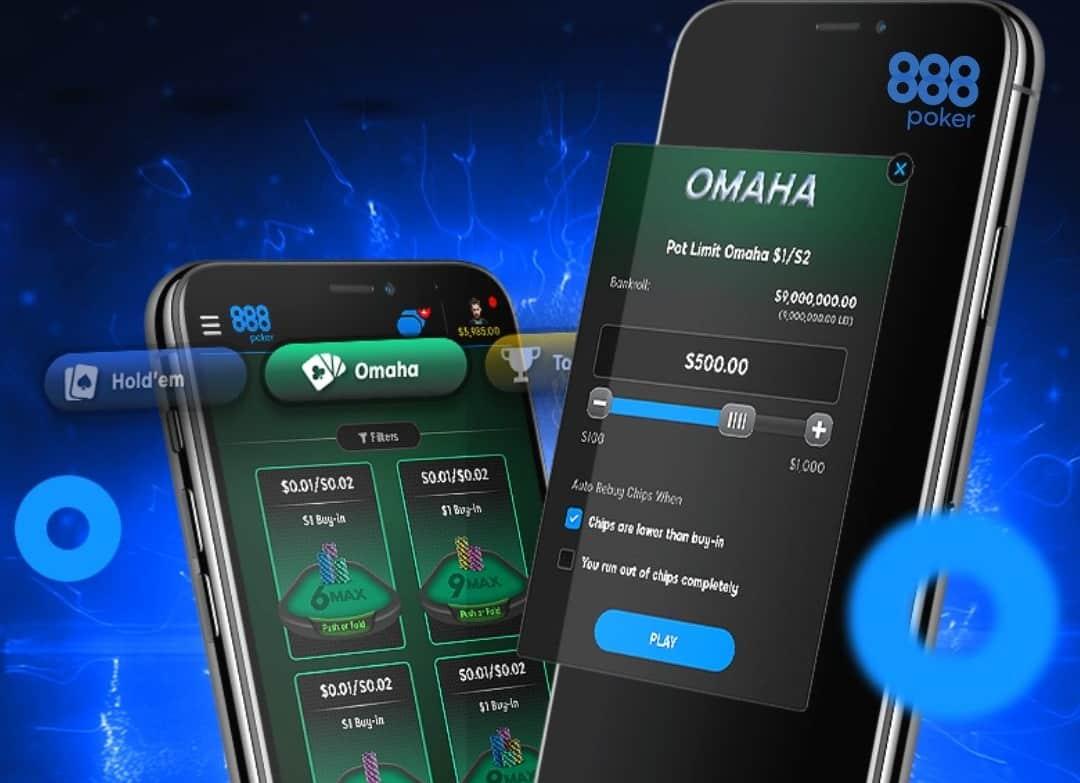 Омаха теперь доступна в новом мобильном клиенте 888poker